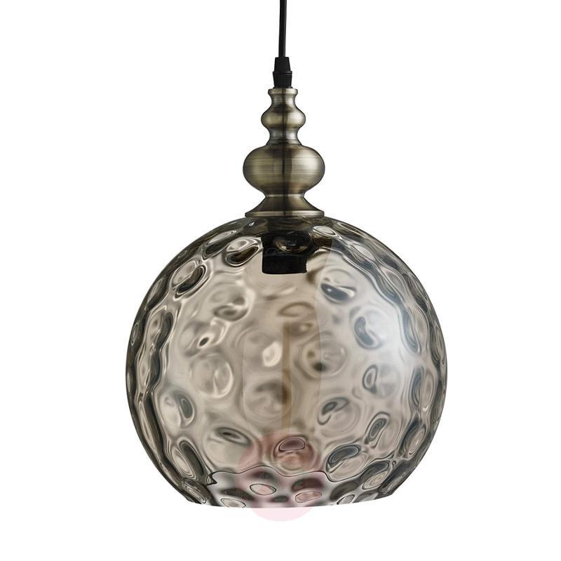 Indiana hanging light of antique design, cognac - indoor-lighting