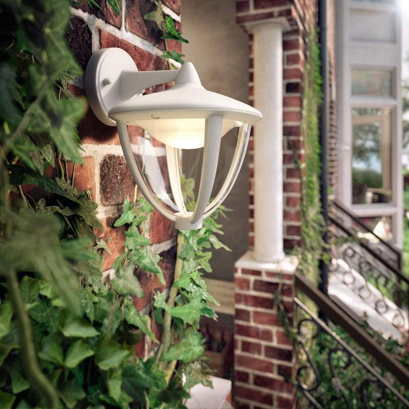 LED outdoor wall light Robin in white - Outdoor Wall Lights
