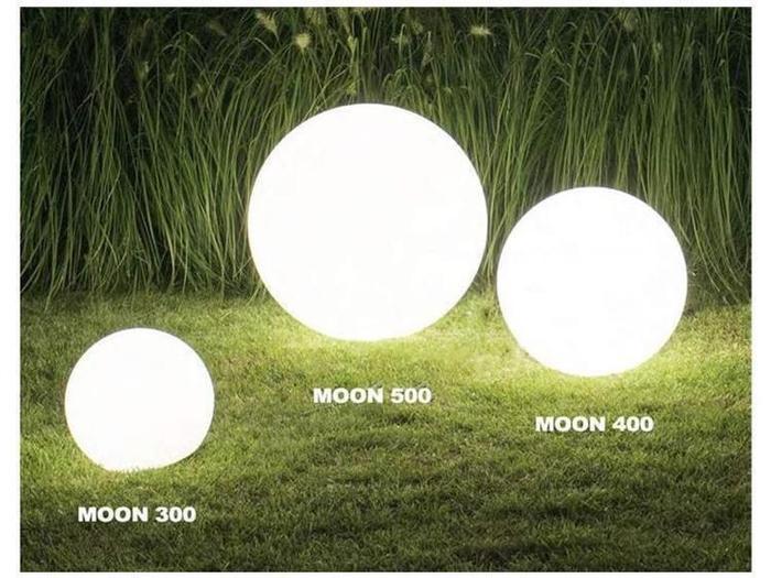 Wege-/Ambiente-Leuchten - Design-Kugel Moon 400, Kugel 400mm Inkl. Zuleitung, Erdspieß