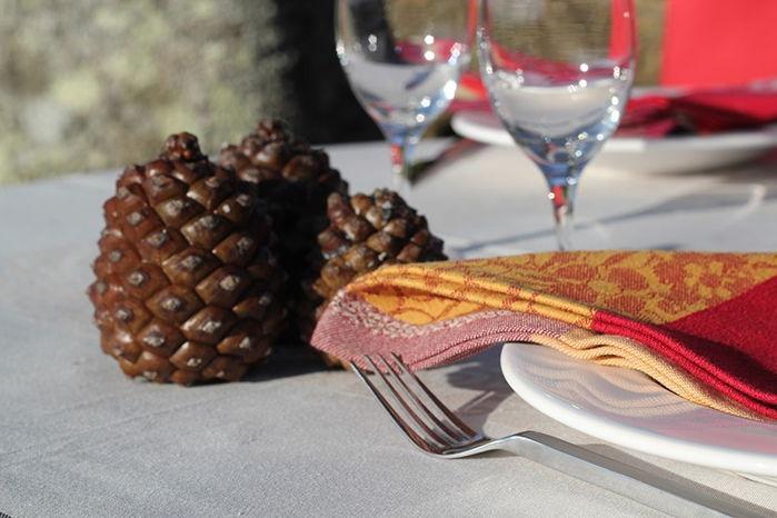 Toalhas de mesa e guardanapos Jaquard -