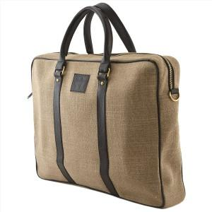 Leather Mixed Jute Fabric Men Women Office Bag P Bags