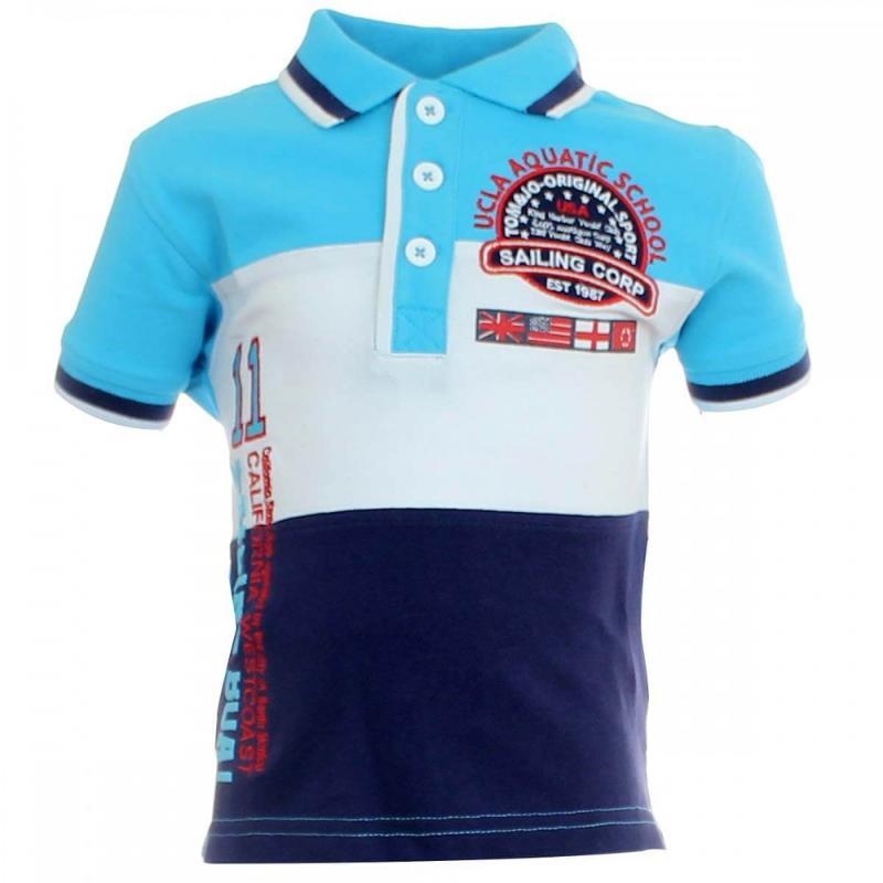 8x Polos manches courtes Tom Jo du 2 au 5 ans - T-shirt et polo manches courtes