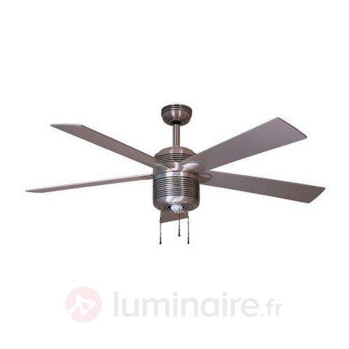 Ventilateur de plafond lumineux moderne Alustar - Ventilateurs de plafond modernes