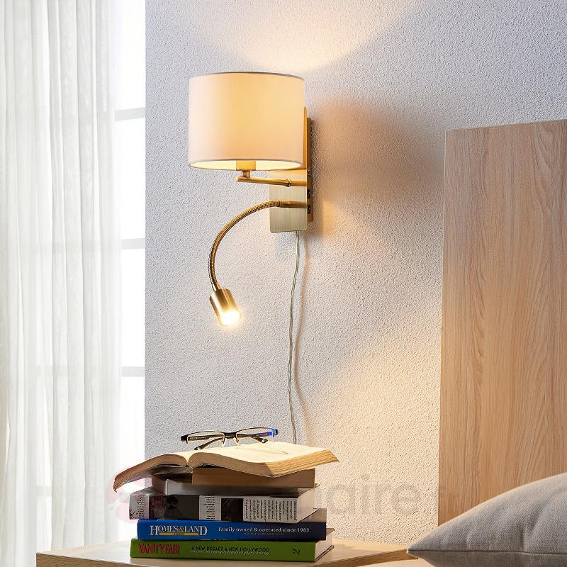 Applique tissu Florens avec bras flexible LED - Appliques en tissu