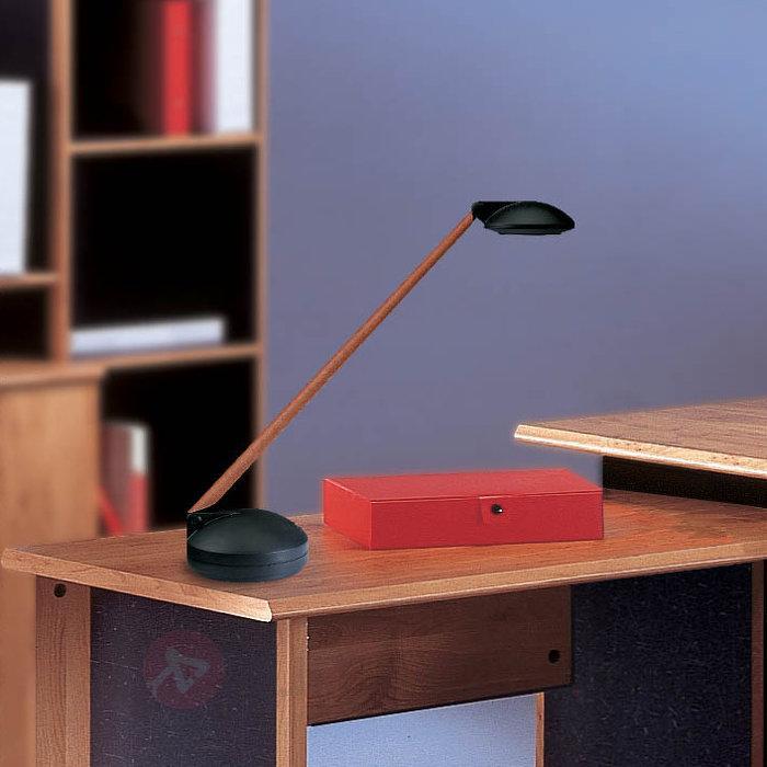 Lampe de bureau DOMINO noir et merisier - Lampes de bureau
