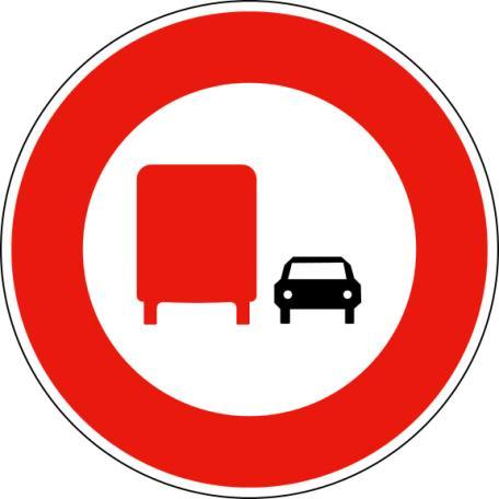 Panneau B3a Interdiction De Dépasser - Balisage De Chantier Et Panneaux Routiers