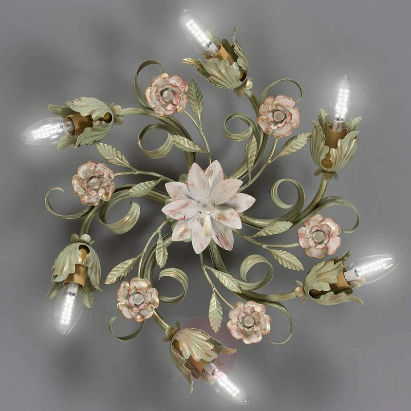 Floral ceiling light Tulipe, six-bulb - indoor-lighting