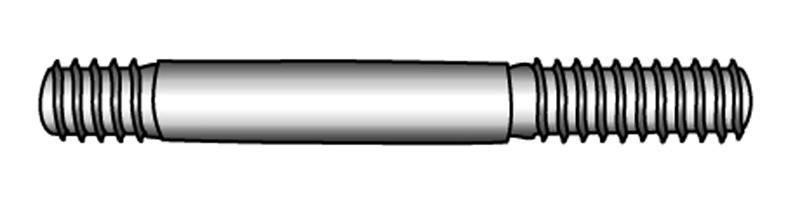Stiftschrauben, Einschraubende ~1,25 d  - Material A2 | A4