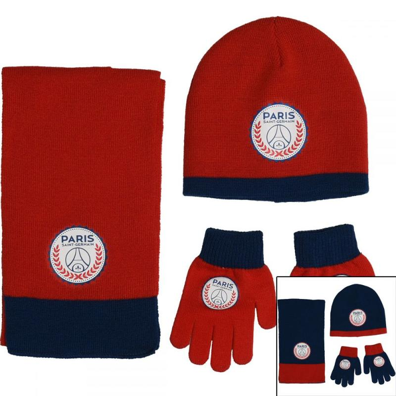 6x Echarpes et bonnets et gants Paris Saint Germain - Bonnet Gant Echarpe