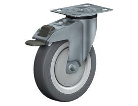 SWIVEL CASTOR WITH TOTAL LOCK - Institutional Castors