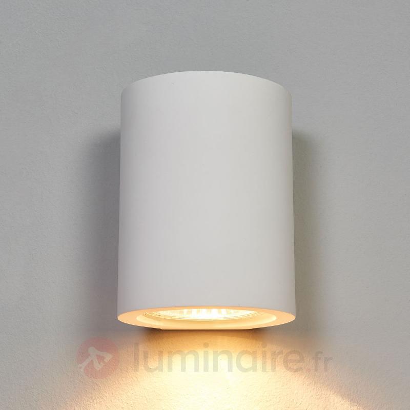 Applique blanche GU10 Miroslaw en plâtre - Appliques en plâtre