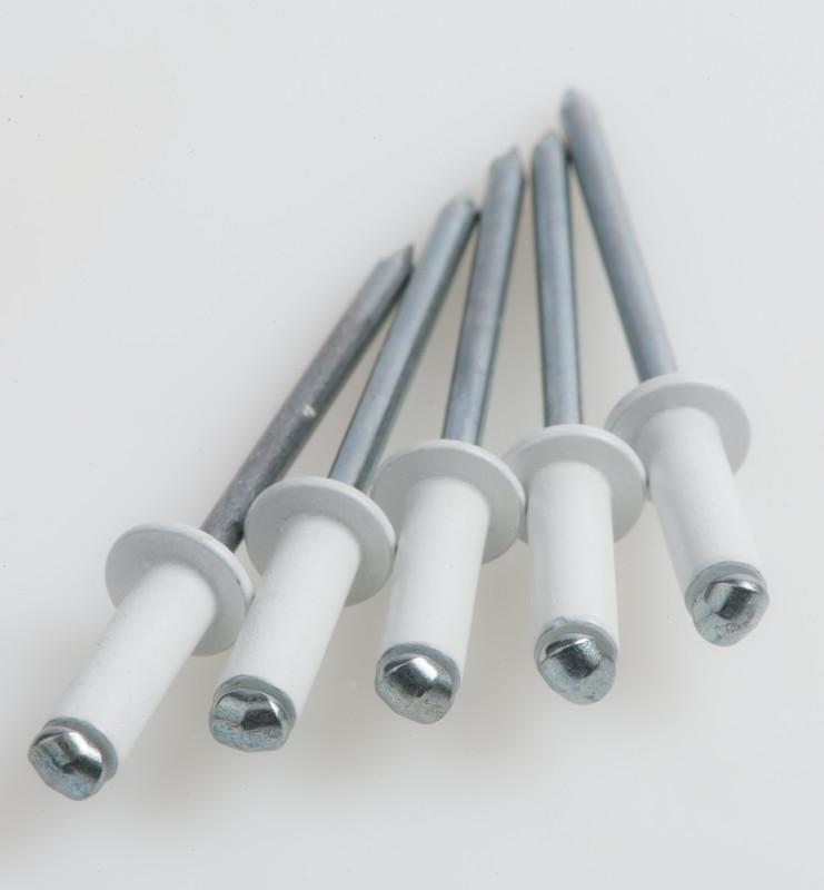 Painted blind rivets - PolyGrip® - Coloured blind rivets, visually appealing with additionnal corrosion protection