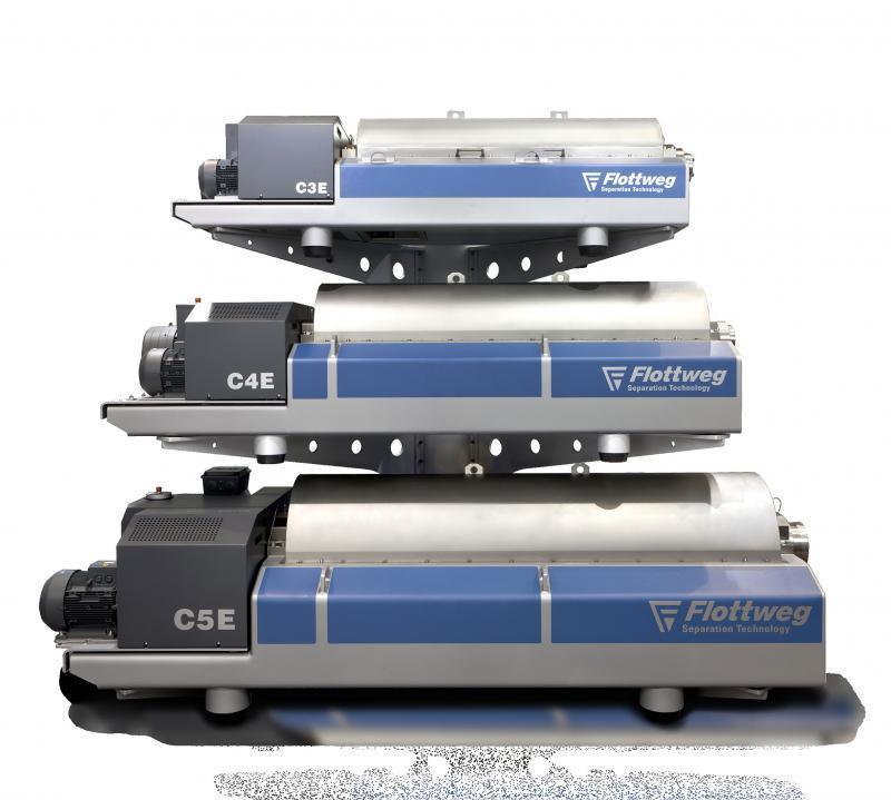 Serie C Flottweg - Le centrifughe decanter per il settore dei fanghi di chiarificazione