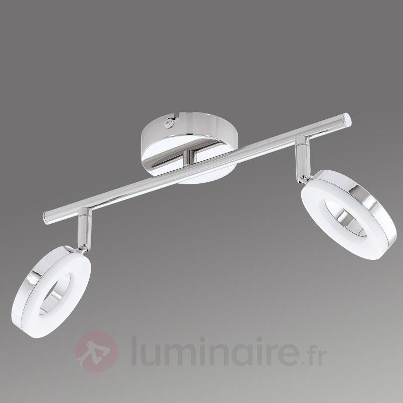 Plafonnier à deux têtes LED Gonaro, IP44 - Salle de bains