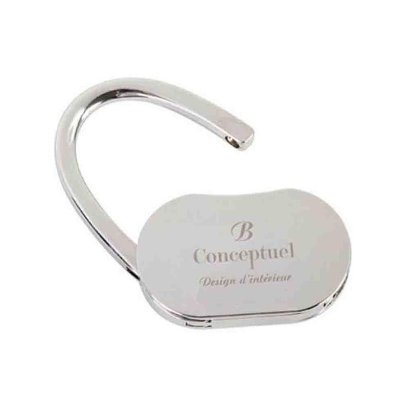 Accroche sac à main métal chrome - Porte-clés métal