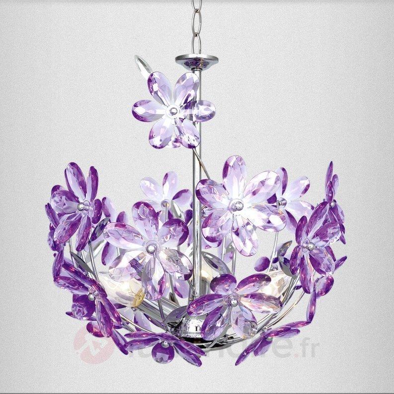 Suspension violette PURPLE à 3 lampes - Toutes les suspensions