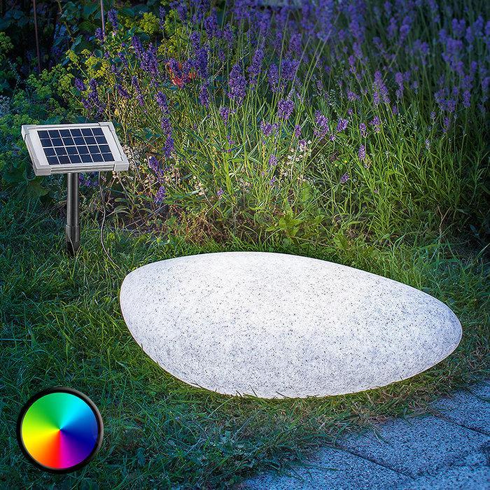 Lampe décorative d'extérieur solaire LED Stone 40 - Lampes décoratives d'extérieur