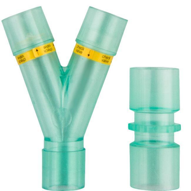Y–port for breathing masks - HZ-YPM HZ-VMG