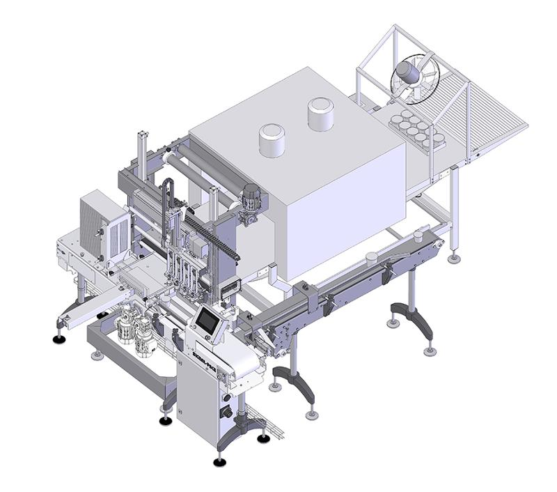 End of the line packaging solution for sour cream and yogurt - COMPLETE LINES <ON A TURN-KEY BASIS> FOR THE FOOD INDUSTRY