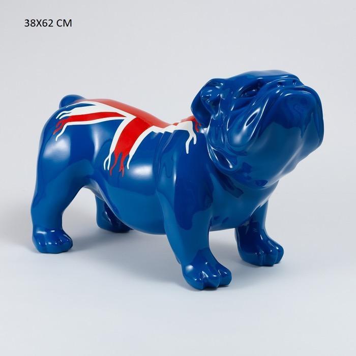 Bouledogue en résine  - Sculpture statue de chien en resine