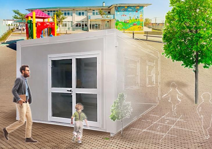 Construction modulaire pour l'enfance - Modulaire reconditionné ou d'occasion