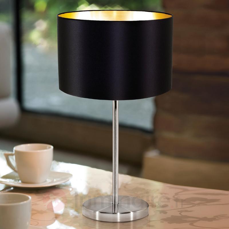 Lampe à poser simple textile Lecio - Lampes à poser en tissu