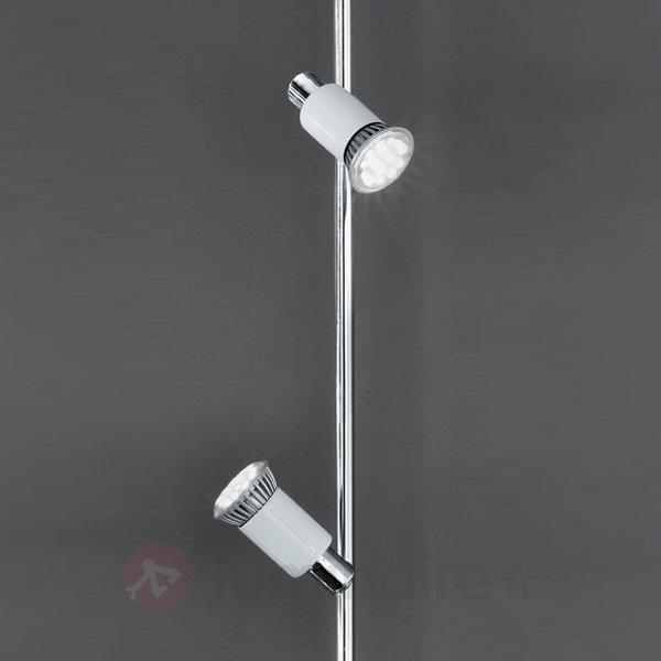 Plafonnier LED Eridan 6 ampoules chromé et blanc - Plafonniers LED