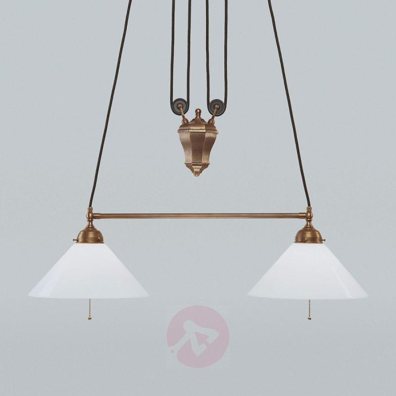 Jasmin hanging light with rise and fall mechanism - design-hotel-lighting