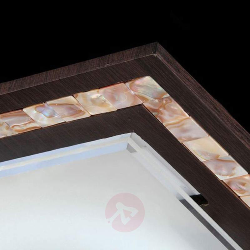 Angular ceiling lamp Simmetria - 40 cm wenge - indoor-lighting