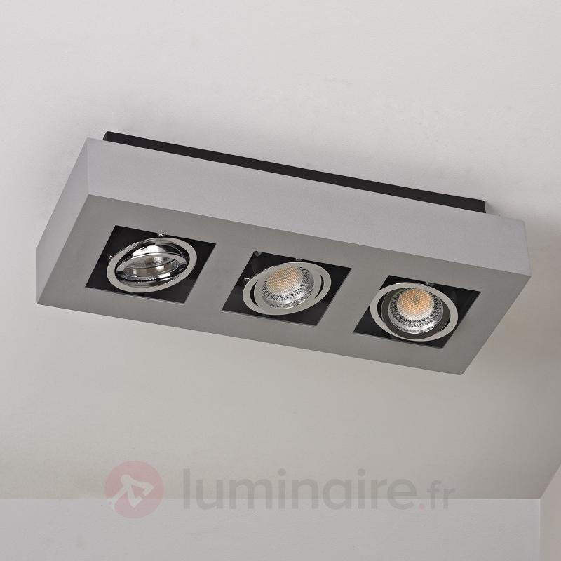 Plafonnier LED Vince à 3 lampes - Plafonniers LED
