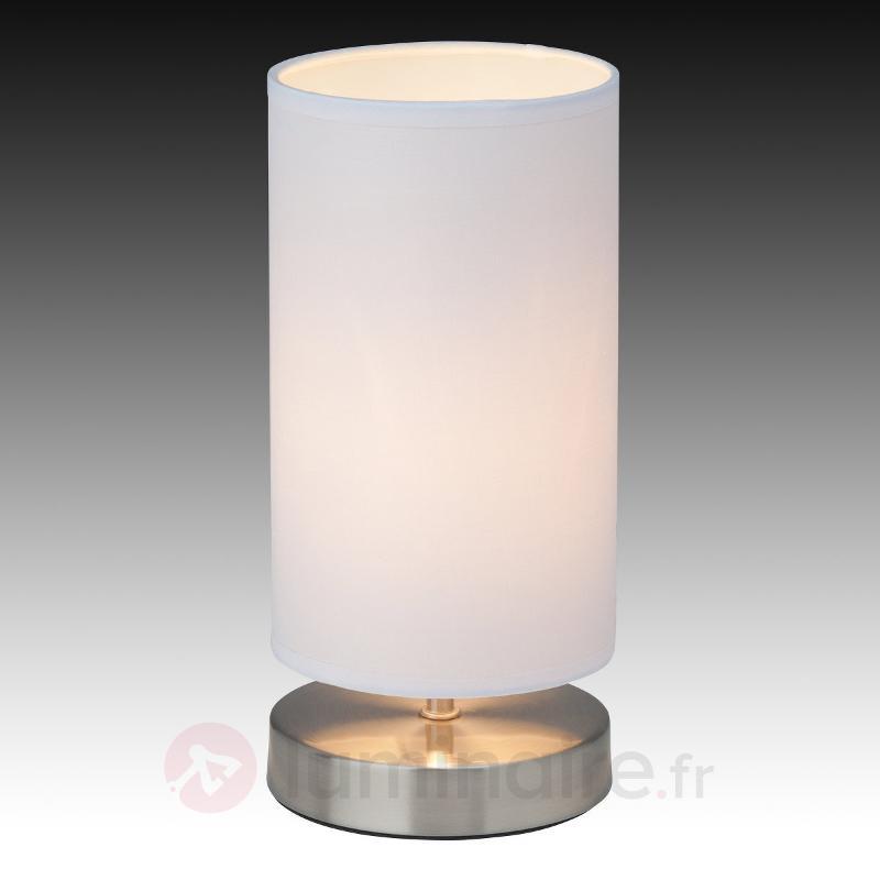 Lampe à poser textile Clarie, blanc - Lampes à poser en tissu