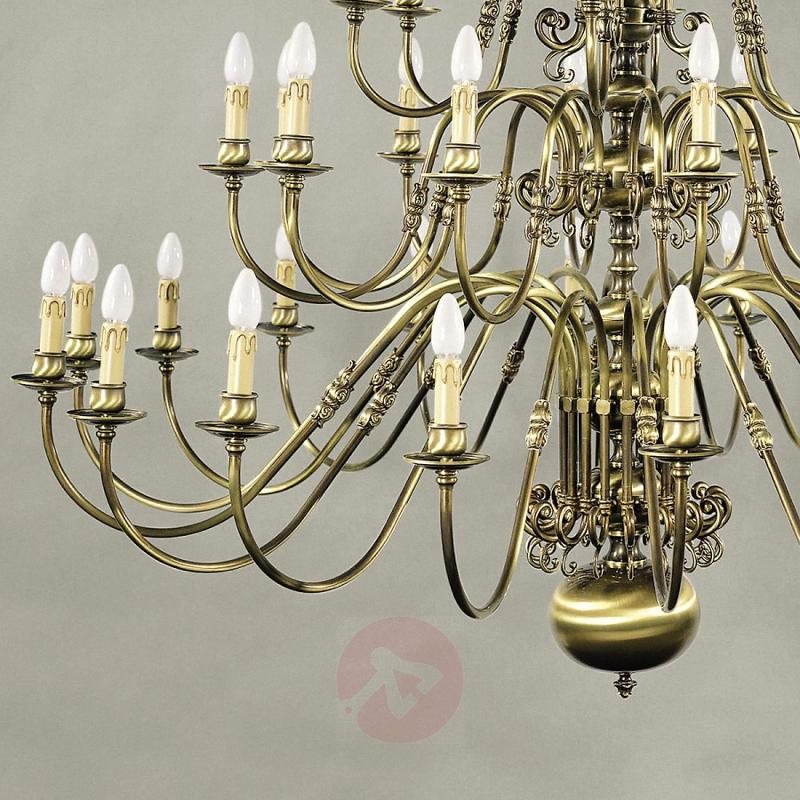 Imke Chandelier 39 Bulbs Old Brass - design-hotel-lighting