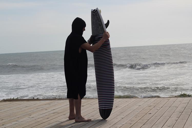 Surf Poncho mit Kapuze -