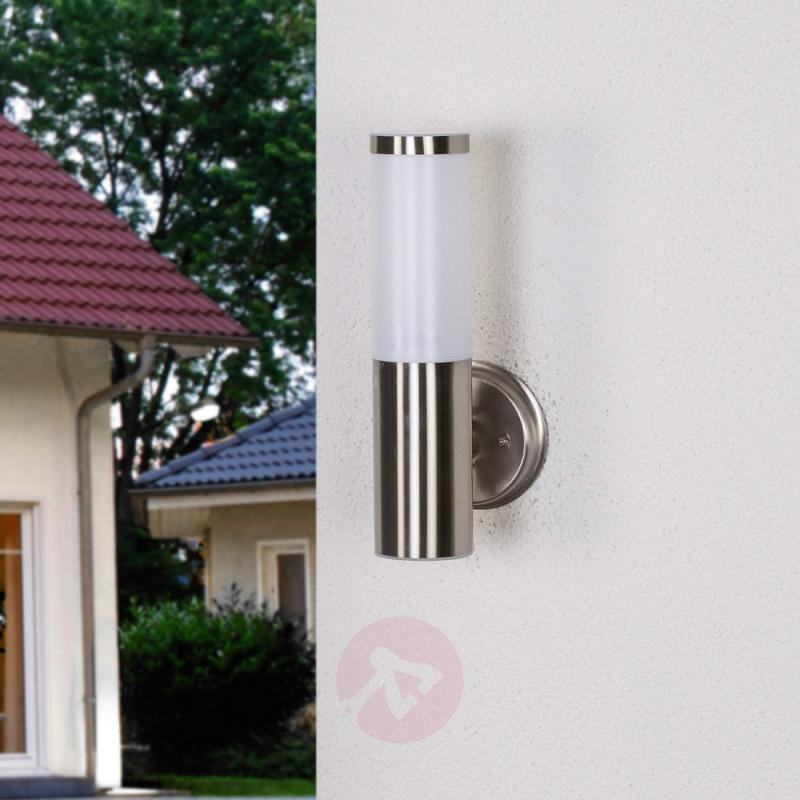 Timeless outdoor wall lamp Kristof - stainless-steel-outdoor-wall-lights