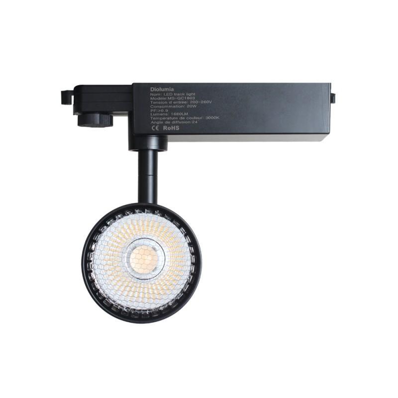 Spot LED sur rail
