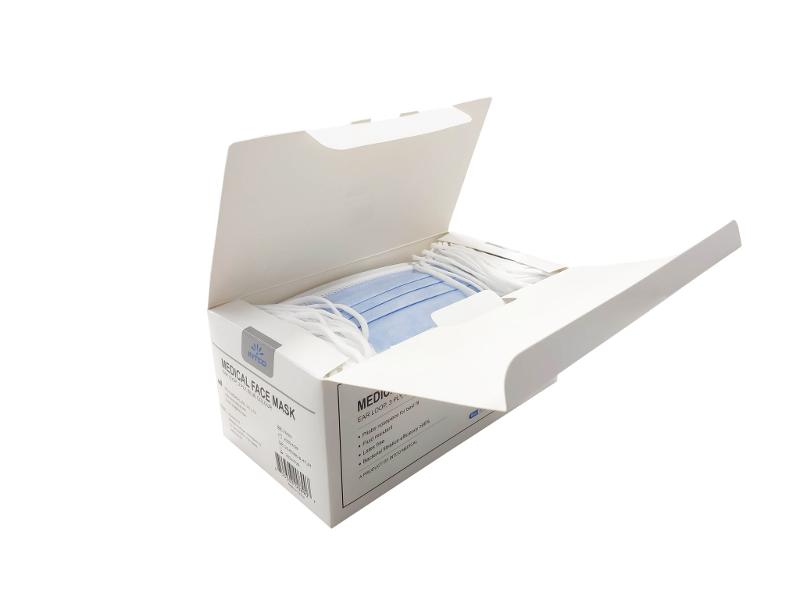 Boîte De 50 Masques 3 Plis Type Iir (chirurgical) À Usage Médical - Intco - Masques