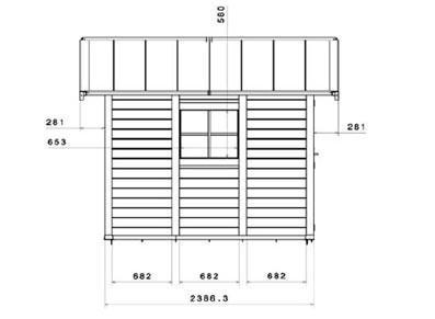 Abri de jardin en PVC - Kit d'ancrage offert