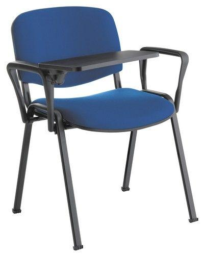 Chaise Iso tissu avec tablette écritoire et accoudoirs - Mobilier Intérieur