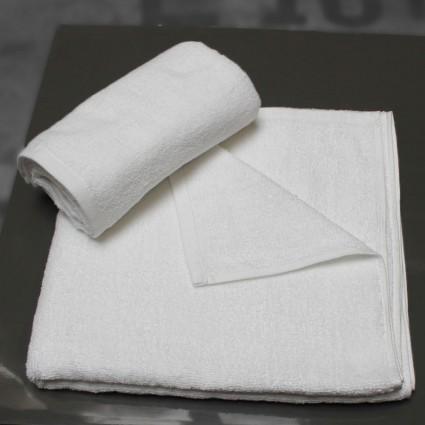 Linge de bain : serviettes et peignoirs - LINGE ÉPONGE BLANC SORIA 450G