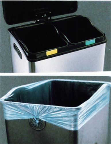 Poubelles à pédale - Recycling 60L DUO
