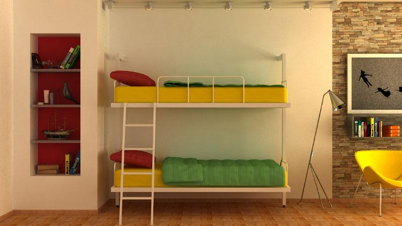 Wall bunk beds -