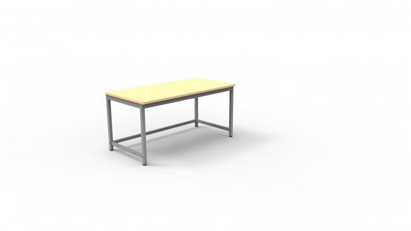 BASIS-Arbeitstisch - Arbeitstisch, pulverbeschichtetes Stahlrohrgestell, versch. Abmessungen möglich