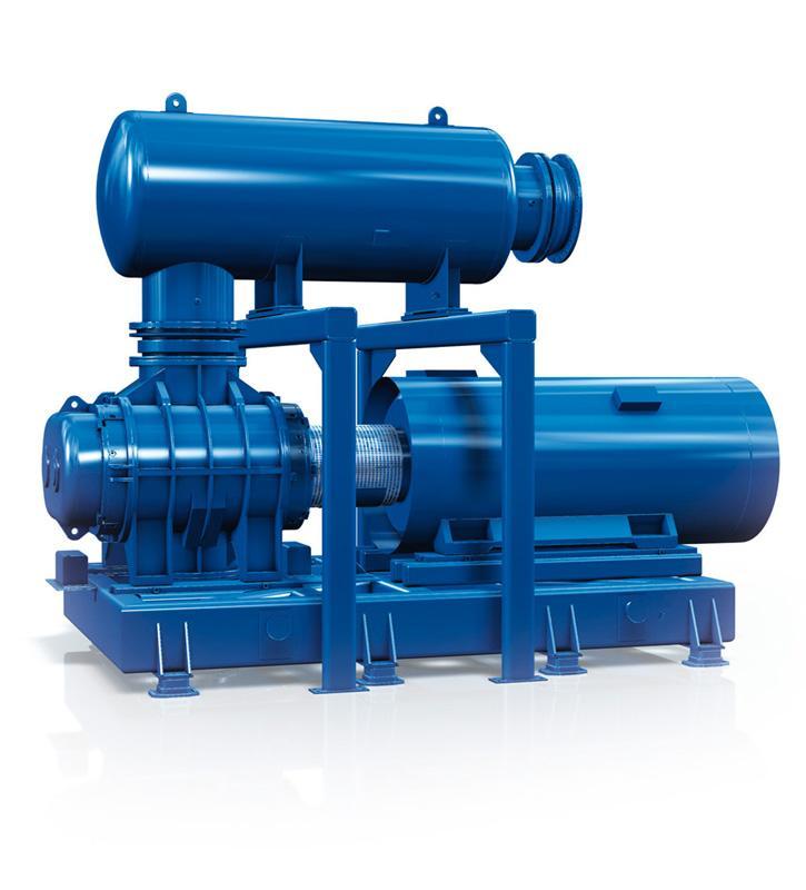 AERZEN Überdruck-Aggregat 4/6 Anordnung GM 315L ...1080 S/L - Drehkolbengebläse Überdruck