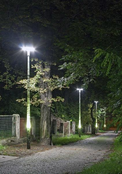 Designpole - lighting pole with a pattern and backlight -