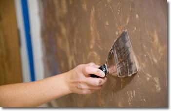 Peinture décorative : mortex (béton lissé)