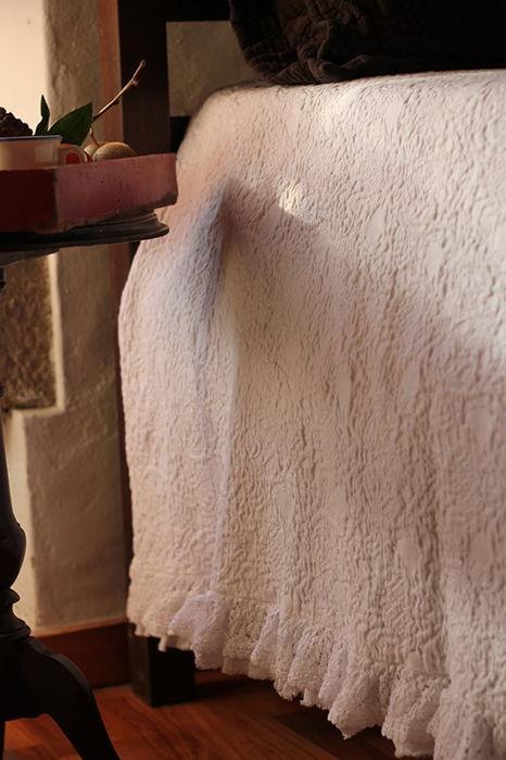 Colchas de Algodão - Colcha de Algodão com folho duplo