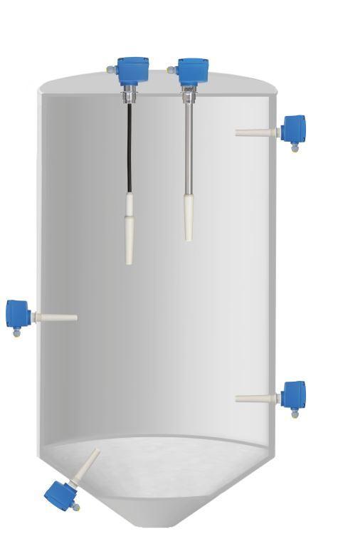 Capanivo® CN 4000 - Kapazitiver Sensor zur Grenzstandmessung in Schüttgütern