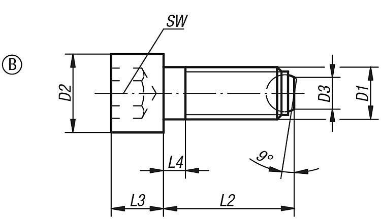 Vis à bille orientable à tête CHC - Vis à bille orientable et inserts à picots