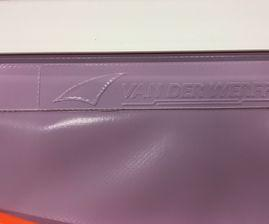 keder in farbe violett - Doppel seitig PVC Keder
