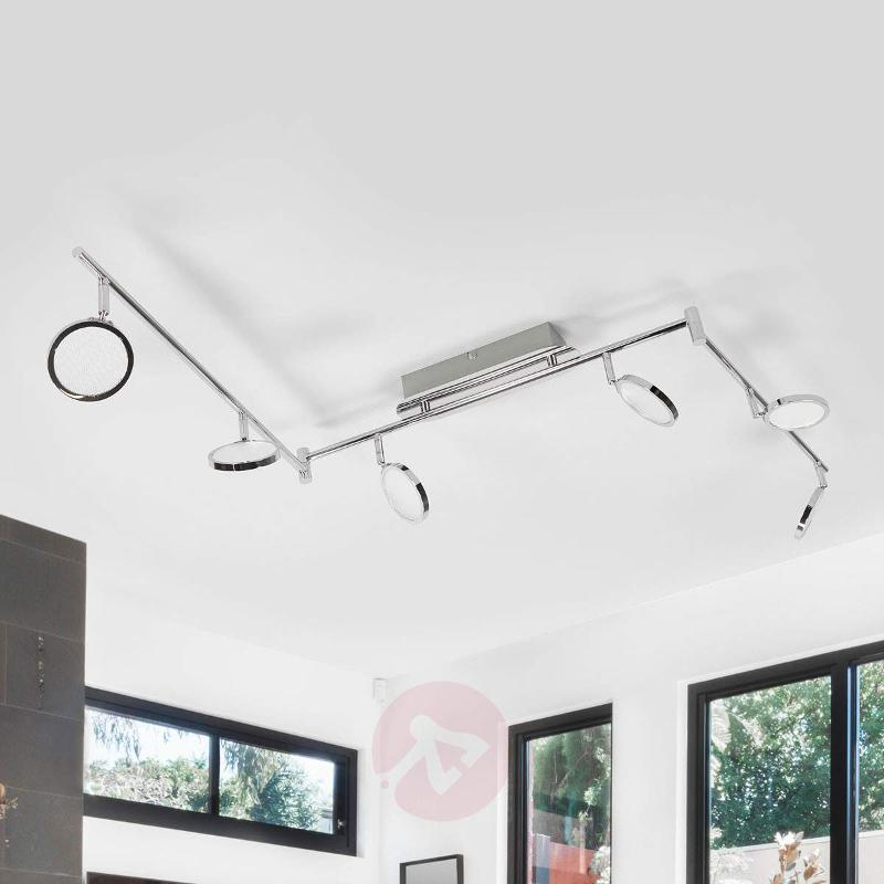 6-Light LED ceiling light Hazel in chrome - Ceiling Lights